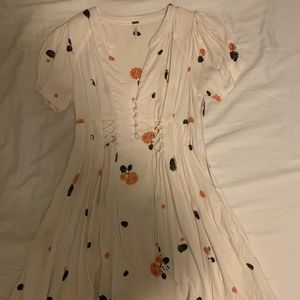 White Floral Free People Dress